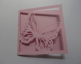 Butterfly - monarch butterfly birthday card theme square card