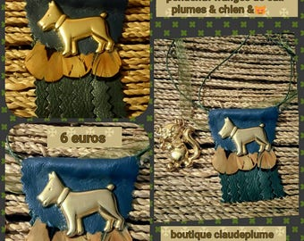 Bags, leather pendant jewelry