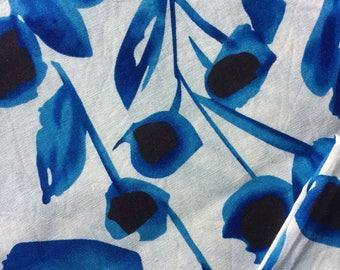 Dress length, cotton dress lenght. Blue,black and ecru 156 cm x 138 cm, heavier weight lawn.