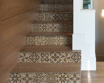 """DS00034 """"Grenoble stairs"""" Stickers for stairs, fabric effect - Very high print resolution - Wall stickers"""