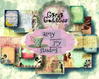 Gypsy Journal  Goddess  Printable Journal Kit  Digital Journal Kits   Boho  Mixed Media  Vintage  Junk Journal Vintage  Journal Pages