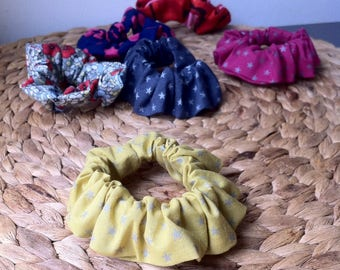 Cotton hair scrunchies