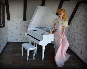 grand piano forte miniature  1/6 scale dollhouse Blythe Poppy Parker Barbie Momoko Fashion Royalty