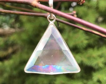 Angel / Opal  Aura  - Marcel Vogel Pendant - set in Sterling Silver - A Grade !  Powerful