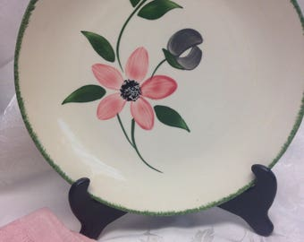 "Blue Ridge Pottery ""Pinkie"" Plate"