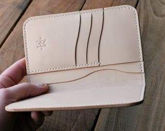 Natural Leather Field Notes Cover / Moleskine Cashier Cover - Field Notes Wallet - Made in USA - Vegetable Tanned Cover
