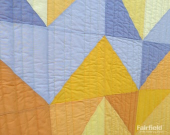 Custom January Skies Quilt - Your Choice of Custom Colors - Made-to-Order