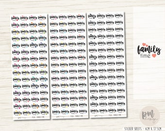 Family Time Stickers - Planner Stickers - FS28
