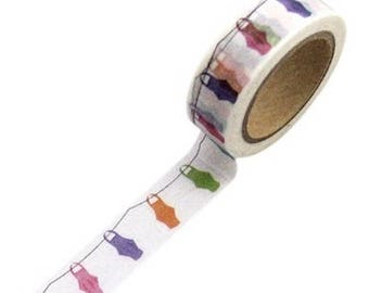 Washi tape multicolored lanterns - Japanese washi paper tape