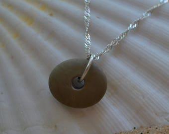 Lake Michigan stone stack spiritual organic sterling silver necklace