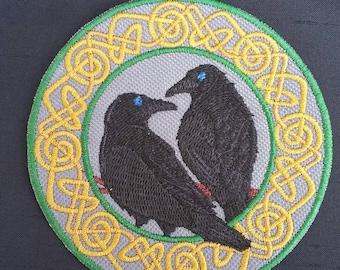 Huginn and Muninn Iron on Path