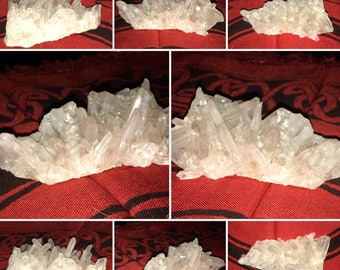 Chrysanthemum Quartz Cluster, Crystal Cluster, Crystal Points, Natural Crystal, Crystal Formation, Quartz Formation, Greenman Organics