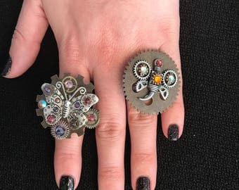 Butterfly Steampunk Ring
