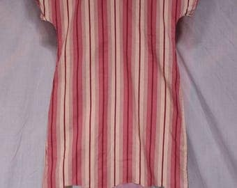 """Zebra"" t.38 pink cotton striped dress"