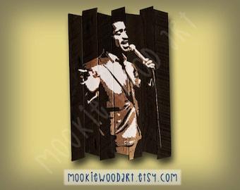 Sammy Davis Jr painting on reclaimed wood - Rat Pack - Mister Show Business -  Candy Man - Mr. Bojangles