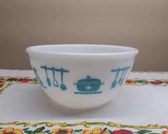Hazel Atlas Kitchen Aids Bowl, 8 Inches