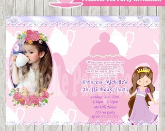 50% Off Princess Tea Party Invitation Photo, Princess costume invite, Princess invitation, Princess party, Princess Tea, Party Girl, Party B