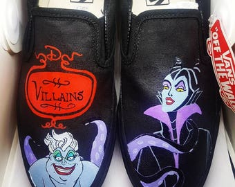 Disney Villains  Inspired Custom Painted Shoes Vans/Converse Size US W 9