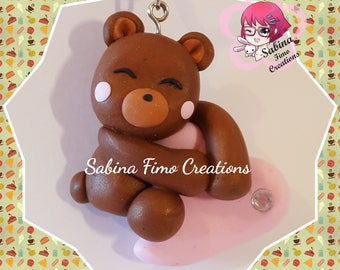 Teddy bear with heart, hand-crafted Infimo Pendant