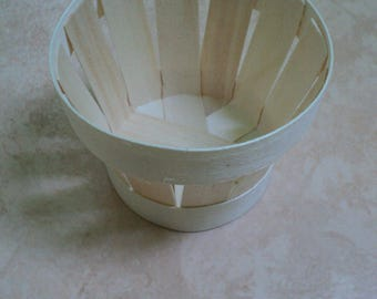 making your creations wooden basket