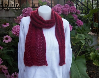 Lightweight and soft wool and mohair scarf.