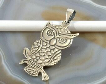 Owl, silver pendant  - 2410