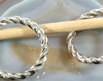 Hoops 925 sterling silver   --   1359