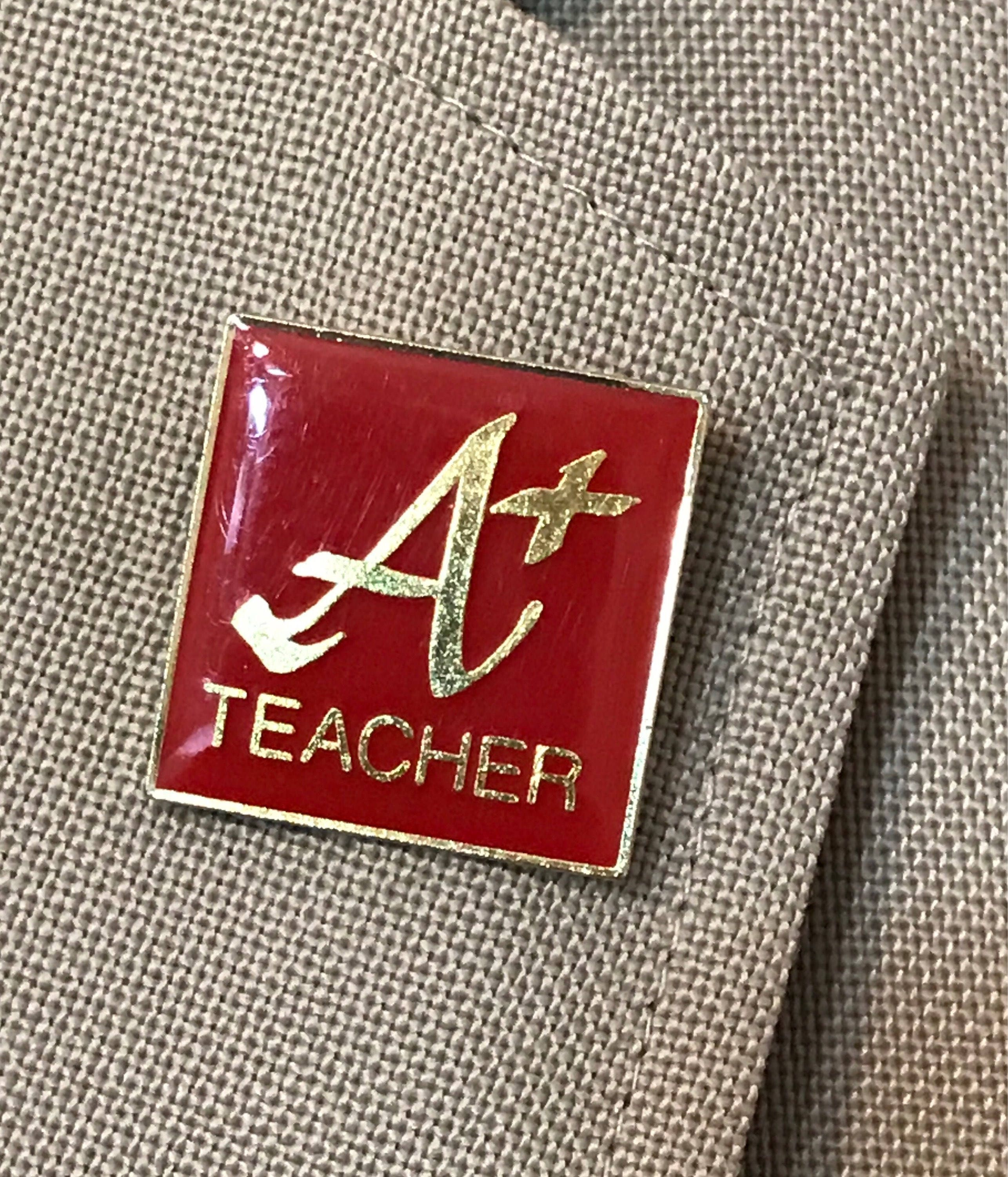 Vintage A Plus Teacher Lapel Pin Signed Agc American Greeting