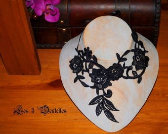 Black Lace bridal necklace