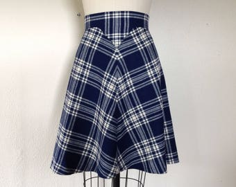 1960s Lord & Taylor plaid wool skirt