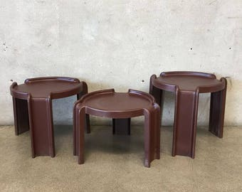 Vintage Kartell Stacking Tables by Giotto Stoppino (6J97RX)