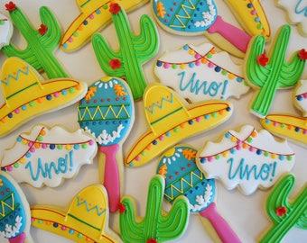 Fiesta Cookies, Cactus Cookies, Sombrero Cookies