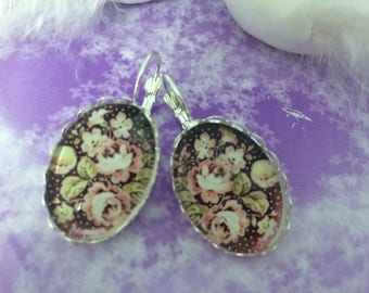 Earrings ' ear shabby romantic chic flowers