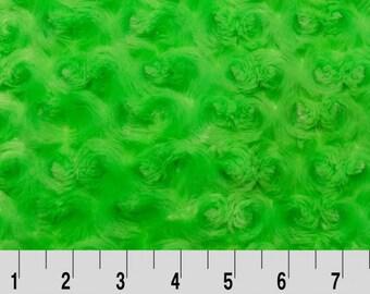Rose Cuddle Dark Lime by Shannon Fabrics