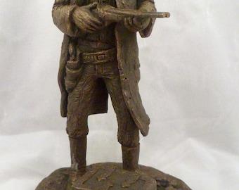 Figurine, Highwayman, Michael Garman, 1982, Marked, Man with Shotgun, Locked Chest
