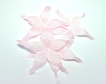 PINK WISPY SILK SATIN FLOWER SHAPED 70 MM