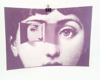 Fornasetti Canvas Wall Art Print, Poster Picture, Black and White Italian Art Classic, Vintage Print, Monochrome, W
