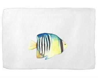 Angel Fish Kitchen Towel,Sea Creature Dish Towel,Tea Towel,Flour Sack Towel,Fish Dish Towel,Flour Sack Kitchen Towel,Flour Sack Dish Cloth