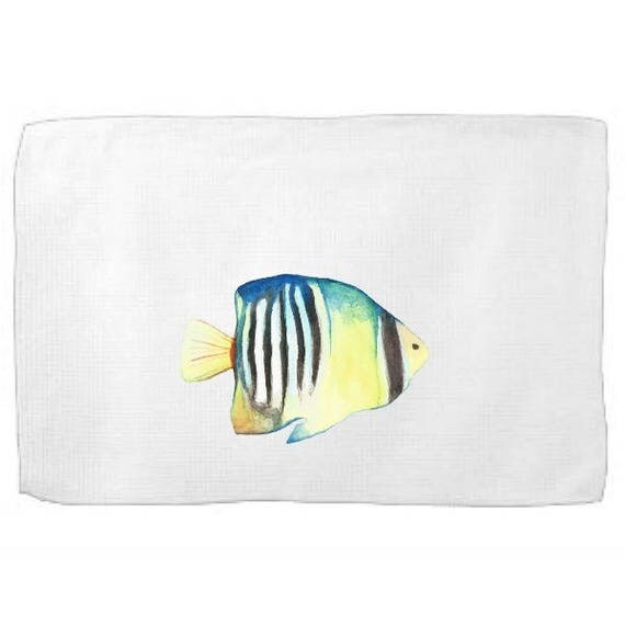 Angel Fish Kitchen Towel,Sea Creature Dish Towel,Tea Towel,Flour Sack Towel,Fish Dish Towel,Flour Sack Kitchen Towel,Flour Sack Dish Cloth