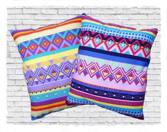 Pair of Small Aztec Style Cushions