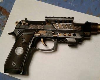 Steampunk diesel punk prop gun