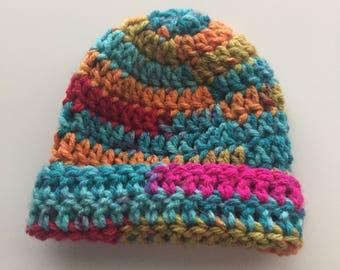 homemade preemie crochet baby hat