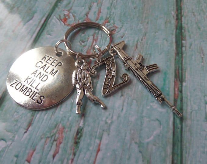 Z NATION gift,  citizen Z fandom, Zombie themed silver tone tag keyring xmas fan gift zombies UK