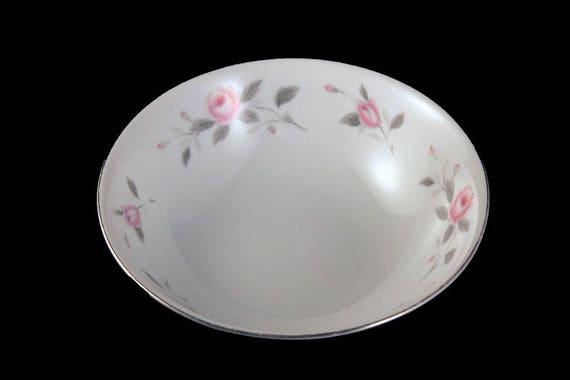 Soup Bowl, Nasco, Plymouth Rose, Floral Pattern, Pink Rose, Porcelain, Fine China, Japan