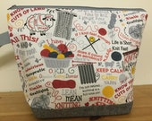 Knit Happens, Knitting sayings Zippered Knitting Project Bag