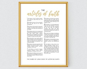 LDS Articles of Faith INSTANT DOWNLOAD Printable