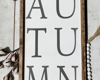 Autumn sign/ fall sign/ fall decor/ home decor/ wall decor/ farmhouse style/ gifts
