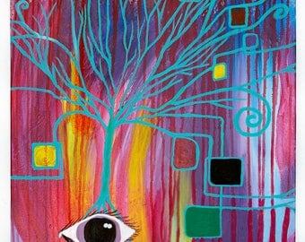 Ajna Girl original artwork - (20 x 30 x 1.5 inch)