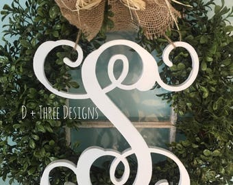 12 Inch Farmhouse Chic Classic Painted Single Monogram Letter (You Pick The Color)