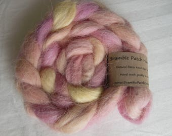 Devon and Cornwall Longwool British Rare Breed Hand Dyed Top for Spinning and Weaving 100g